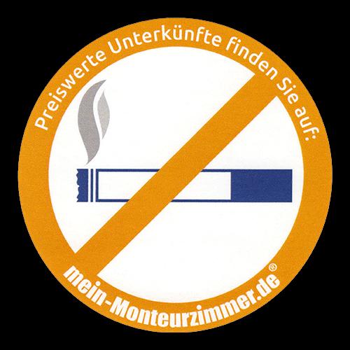 """Aufkleber """"Rauchen verboten"""" (rund, 8 cm Ø)"""