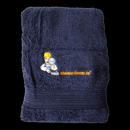 Handtuch (50 x 100 cm, dunkelblau, Baumwolle)