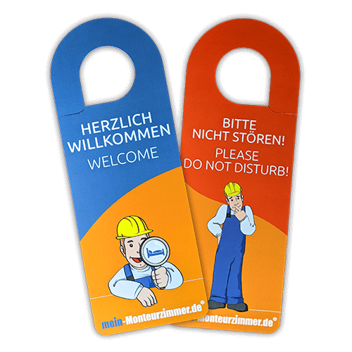 """Türhänger """"Herzlich willkommen & Bitte nicht stören"""" (Deutsch/Englisch)"""